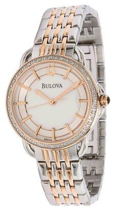 Bulova Ladies Diamond - 98R144 (Mother-Of-Pearl/Stainless Steel) - Jewelry