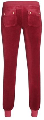 Juicy Couture Slim Pant in Leaf Swirl Velour