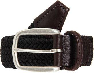 Barneys New York Woven Elastic Belt-Black