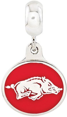 Collegiate Bead Company Sterling Silver University of Arkansas Dangle Bead
