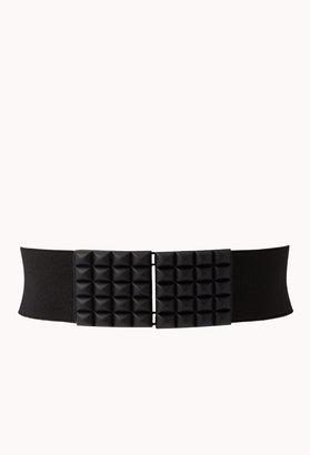 Forever 21 Studded Grid Waist Belt