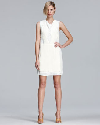 3.1 Phillip Lim Sequined Dress with Pleated Chiffon