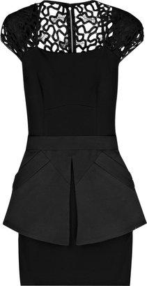 Victoria Beckham Jersey and lace mini dress