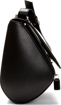 Givenchy Black Calfskin Leather Pandora Box Medium Shoulder Bag