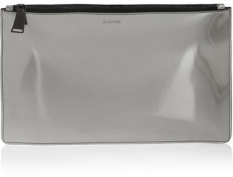 Jil Sander Metallic leather clutch
