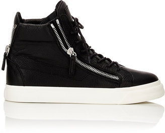 Giuseppe Zanotti Men's Double-Zip Sneakers-BLACK $665 thestylecure.com