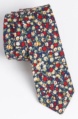 Topman Floral Print Woven Cotton Tie Multi One Size