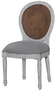 Calhoun Dining Chair, Gray/Beige