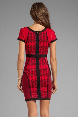 Stretta Dion Short Sleeve Mouret Dress
