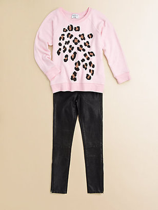 Wildfox Couture Kids Girl's Baggy Beach Spotted Sweatshirt