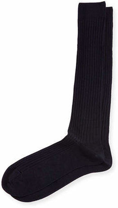 Neiman Marcus Over-the-Calf Ribbed Socks $28 thestylecure.com