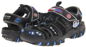 Skechers Ravage - Police II Lights - 90507N (Infant/Toddler) (Black Trubuck/Royal Mesh/Silver Trim) - Footwear