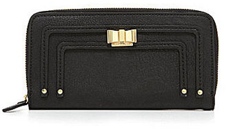 Kate Landry Giselle Bow Zip-Around Wallet