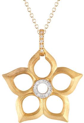 Reiss I.Reiss Diamond Center Flower Pendant Necklace