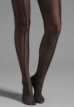 Pretty Polly Paneled Mesh Front Seam Tights