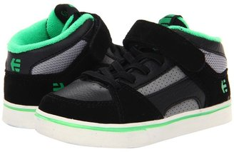 Etnies RVM Strap (Toddler) (Black/Green) - Footwear