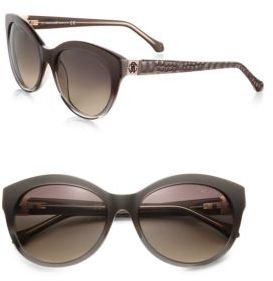 Roberto Cavalli Albaldah Rounded Cat's-Eye Sunglasses