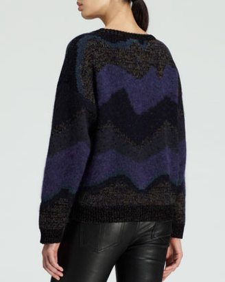 Opening Ceremony Goddess Striped Jacquard Sweater