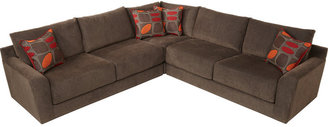 Cindy Crawford Home Dawson Place 3 Pc Brown Sectional