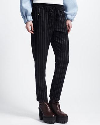 Stella McCartney New Harem Elastic-Waist Cuffed Pants