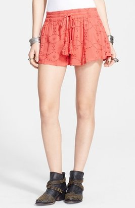 Free People Eyelet Drawstring Shorts