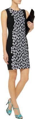Diane von Furstenberg Tilda lace-appliquéd ponte mini dress