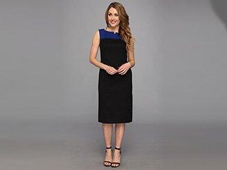 Pendleton Women's Seasonless Wool Color-Block Sheath Dress