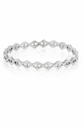 Low Luv x Erin Wasson by Erin Wasson Triangle Stack Bangle in Silver
