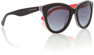 Dolce & Gabbana Women`s polar grey gradient cat-eye sunglasses