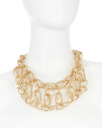 Fragments for Neiman Marcus Chain Bib Necklace, Golden