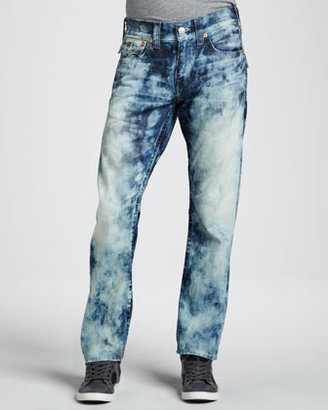 True Religion Ricky Faded Flap-Pocket Jeans, Antelope