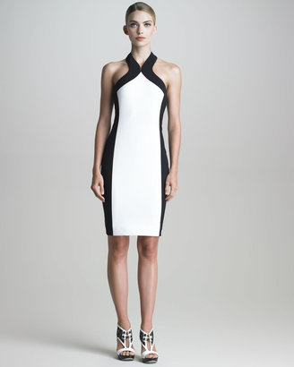 Jason Wu Colorblock Halter Sheath Dress