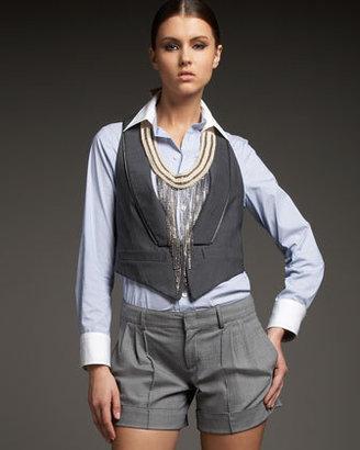 Haute Hippie Pinstripe Wool Vest