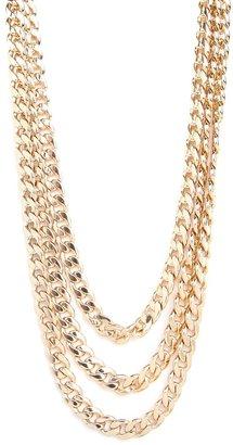 BaubleBar Gold Triple Curb Chain
