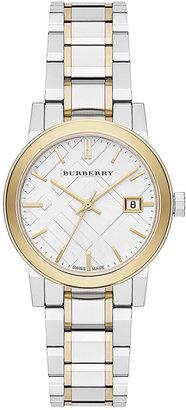 Burberry Watch, Women's Swiss Two-Tone Stainless Steel Bracelet 34mm BU9115 $595 thestylecure.com