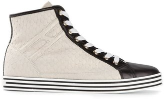 Hogan monochrome hi-top sneakers