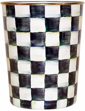 MacKenzie-Childs Courtly Check Wastebasket
