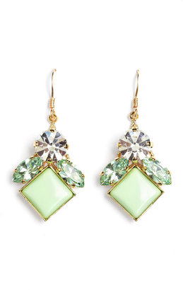 Anton Heunis Small Leaf Drop Pixel Earrings