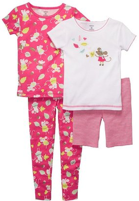Carter's fall mouse pajama set - baby