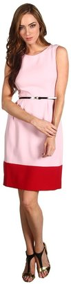Kate Spade Colorblock Tiff Dress (Balloon Pink/Deep Red) - Apparel