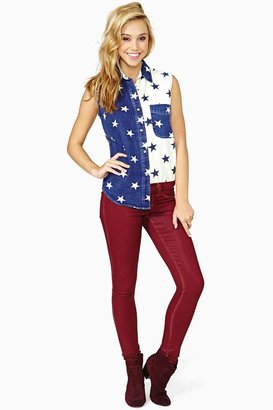 Nasty Gal Stardust Blouse