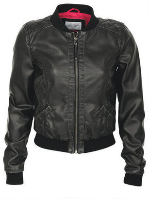 Delia's PU Washed Bomber