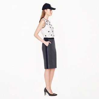 J.Crew No. 2 pencil skirt in tipped double-serge wool