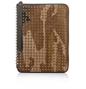 Christian Louboutin Paris spiked document wallet