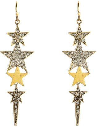 Emilio Pucci Brass Star Drop Earrings