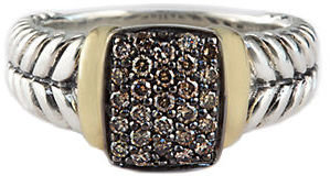 EFFY Balissima Sterling Silver and 18 Kt. Yellow Gold Diamond Ring, .32 CT. T.W.