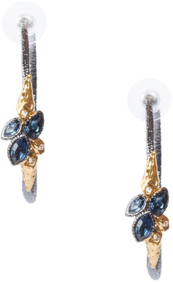 Alexis Bittar Pewter And Gold Hoop Earrings