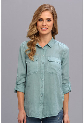 Calvin Klein Jeans Solid Casual Button Front Shirt