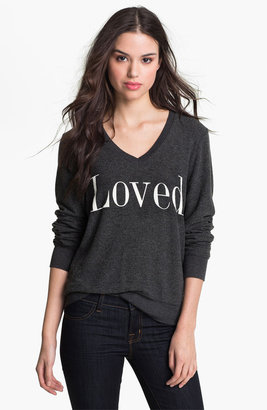 Wildfox Couture 'Loved' Graphic Sweatshirt