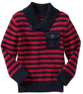 Gap Striped shawl sweater